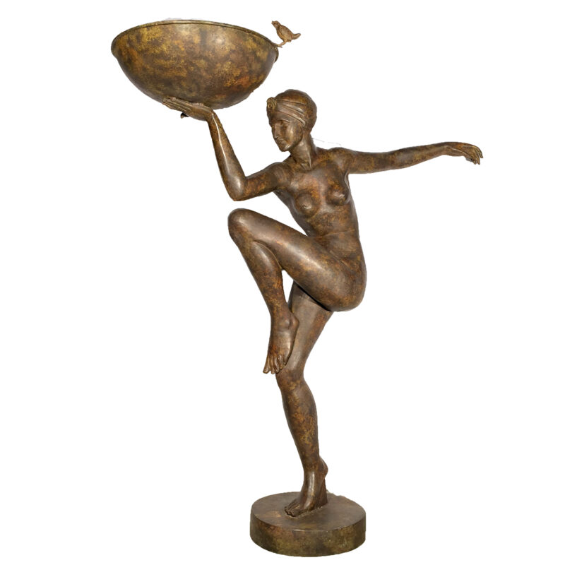 Bronze Art Deco Nude Fountain Sculpture Metropolitan Galleries Furniture TradeSRB992981
