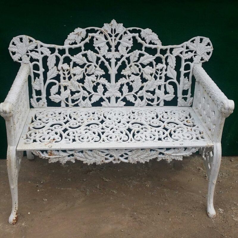 INB706 Classical Design Wrought Iron Bench Metropolitan Galleries Inc.