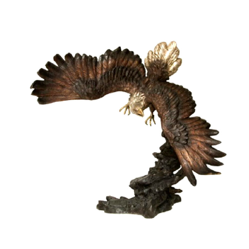 SRB055886 Bronze Eagle Flying Sculpture Metropolitan Galleries Inc.