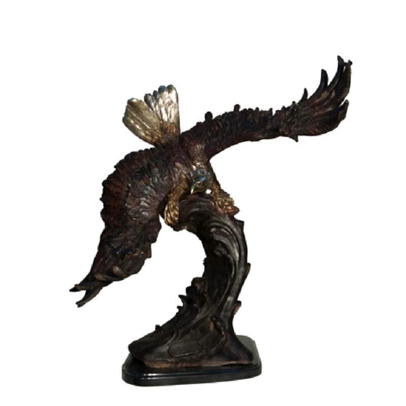 SRB055916 Bronze Eagle on Wave Sculpture Metropolitan Galleries Inc.