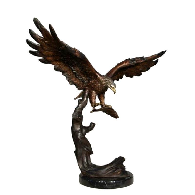 SRB056608 Bronze Flying Eagle Sculpture Metropolitan Galleries Inc.