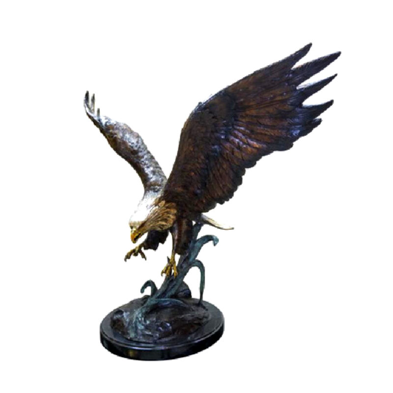 SRB056751 Bronze Eagle Sculpture Metropolitan Galleries Inc.