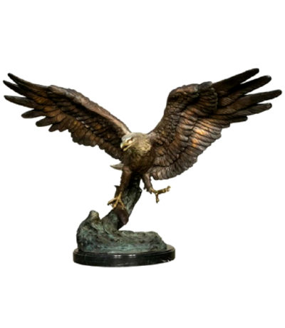 SRB056757 Bronze Flying Eagle Sculpture Metropolitan Galleries Inc.