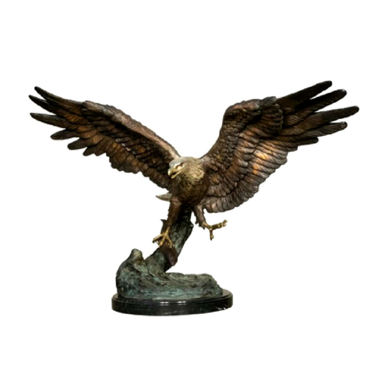 SRB056757 Bronze Flying Eagle Sculpture Metropolitan Galleries Inc.