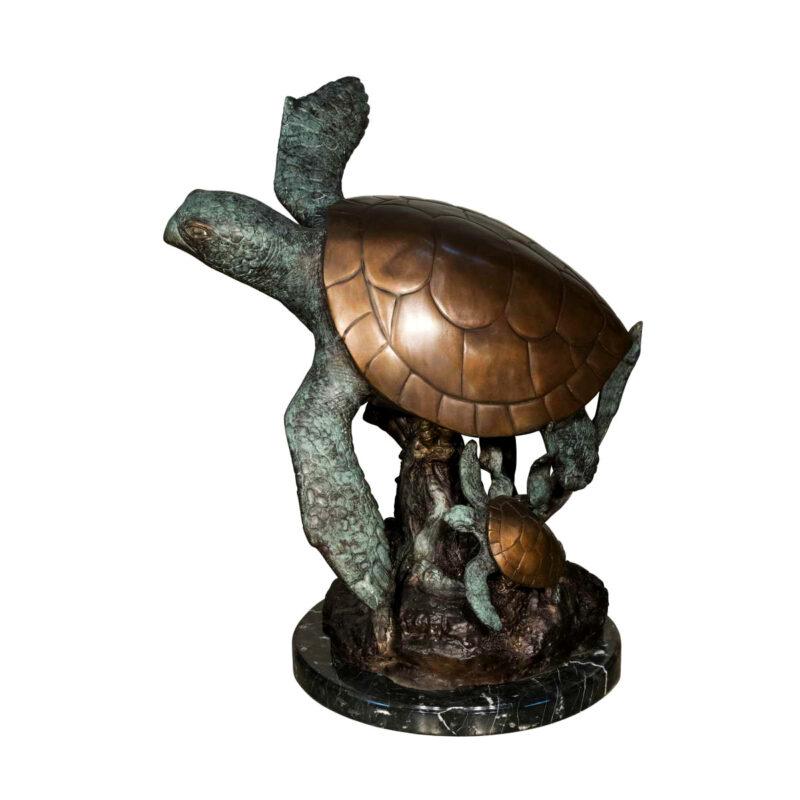 SRB058644 Bronze Sea Turtle Sculpture Metropolitan Galleries Inc.