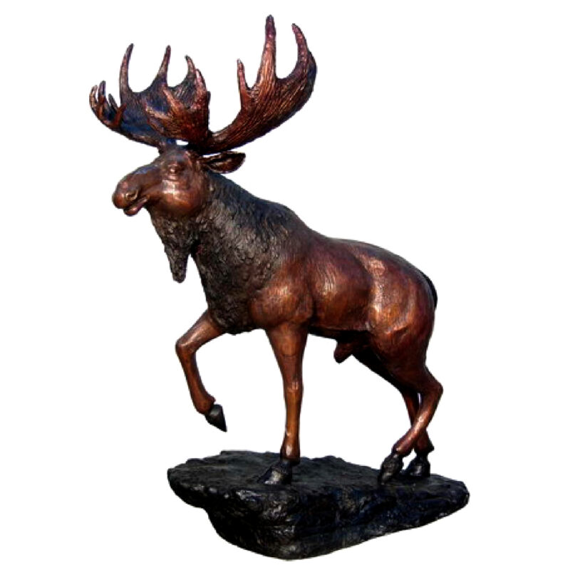SRB074304 Bronze Moose Sculpture Metropolitan Galleries Inc.