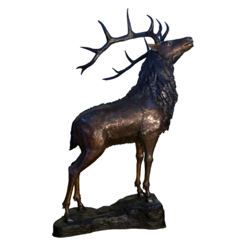 SRB082052 Bronze Large Deer Sculpture Metropolitan Galleries Inc.