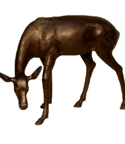 SRB56013 Bronze Female Fawn Sculpture Metropolitan Galleries Inc.