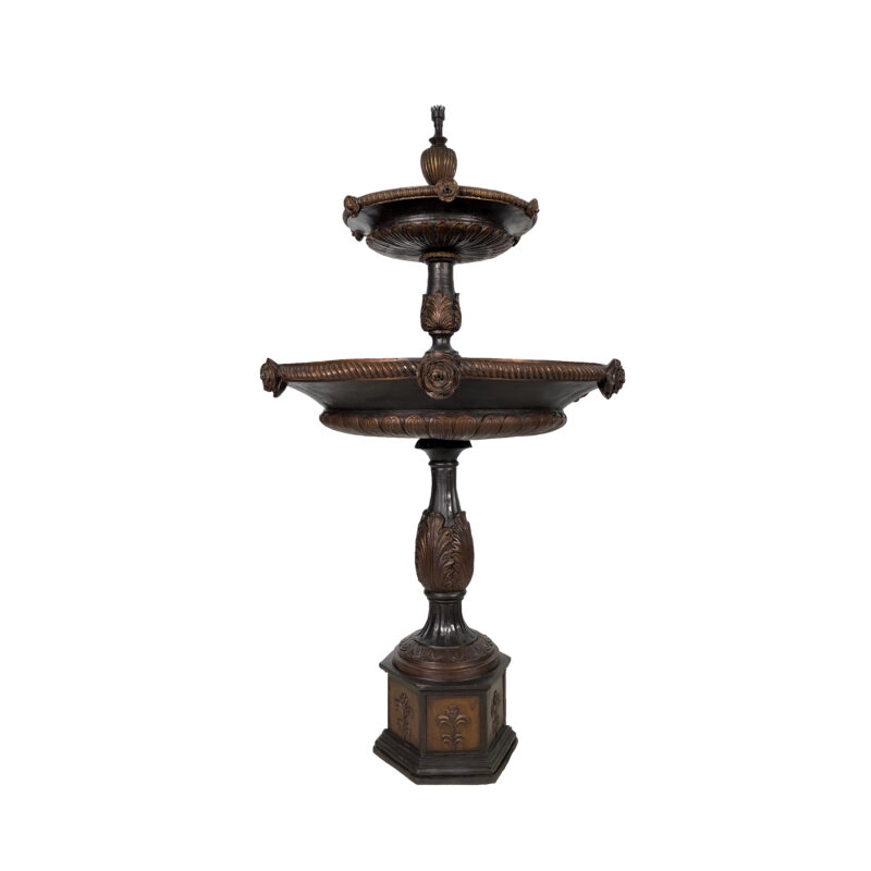 SRB018081 Bronze Two Tier Rose Fountain by Metropolitan Galleries Inc