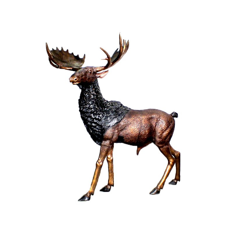 SRB10058 Bronze Large Moose Sculpture by Metropolitan Galleries Inc