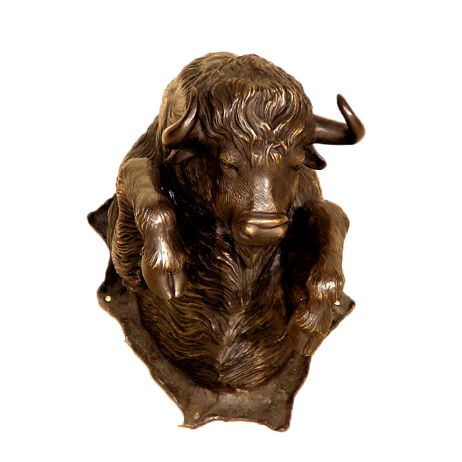 SRB10087 Bronze Bison Head Sculpture Metropolitan Galleries Inc.