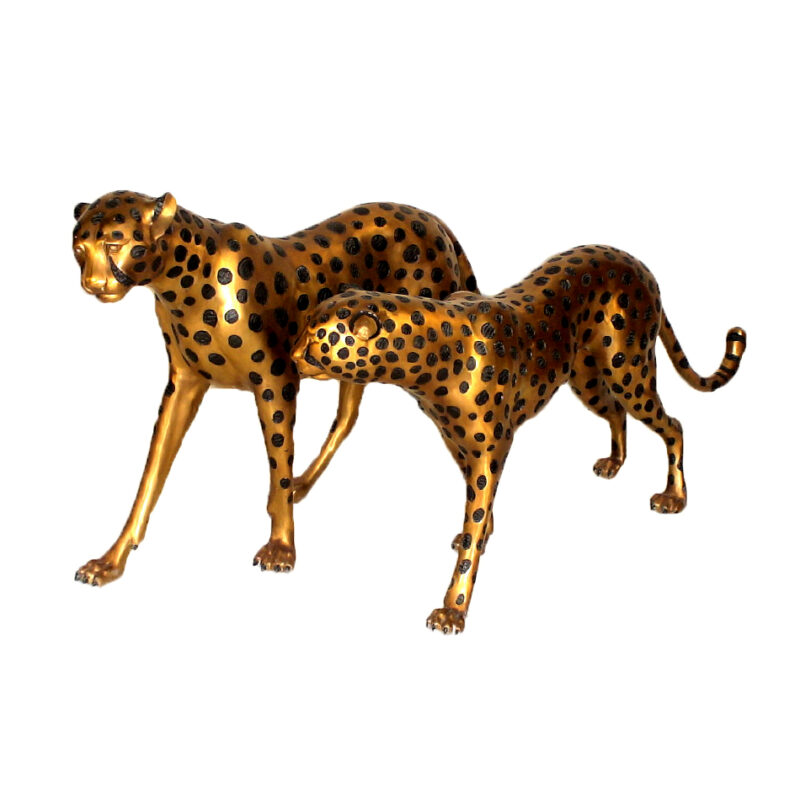 SRB15034-SRB15066 Bronze Cheetah Sculpture Set Metropolitan Galleries Inc.