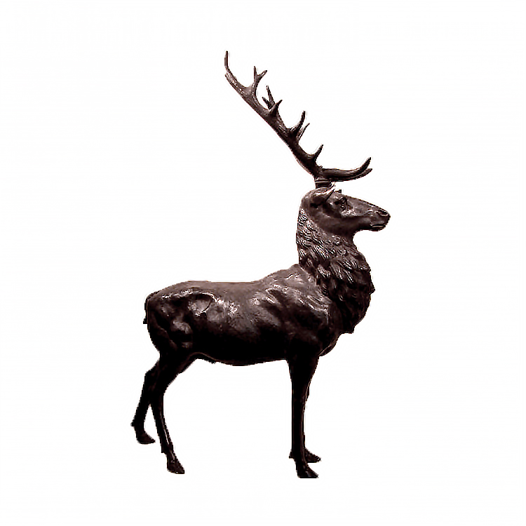 SRB15037 Bronze Large Buck Sculpture by Metropolitan Galleries Inc