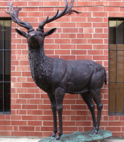 SRB46994 Bronze Large Deer SculptureBronze Large Deer Sculpture Metropolitan Galleries Inc.