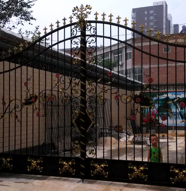 ING85647 Iron Double Gate Metropolitan Galleries Inc.