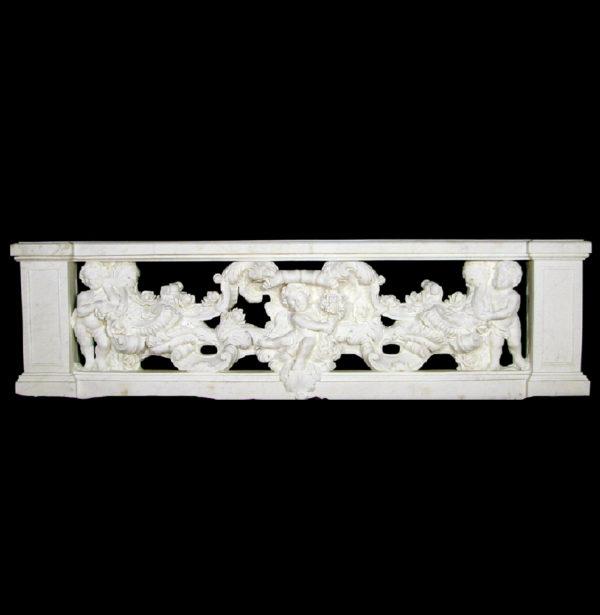 JBB320 Marble Cupid & Rosevine Balustrade Metropolitan Galleries Inc.