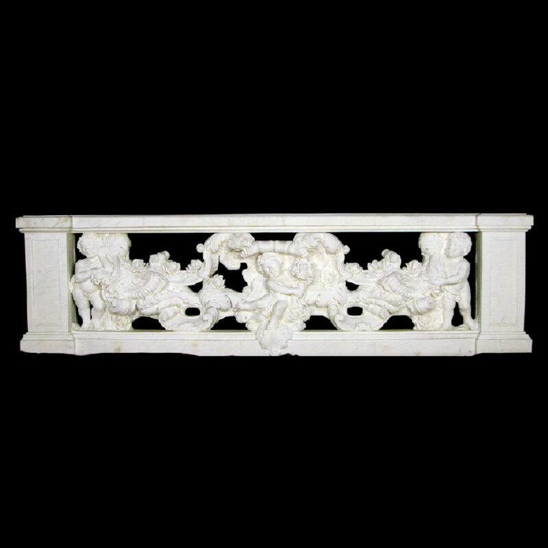 JBB320 Marble Cupid & Rosevine Balustrade Metropolitan Galleries Inc.