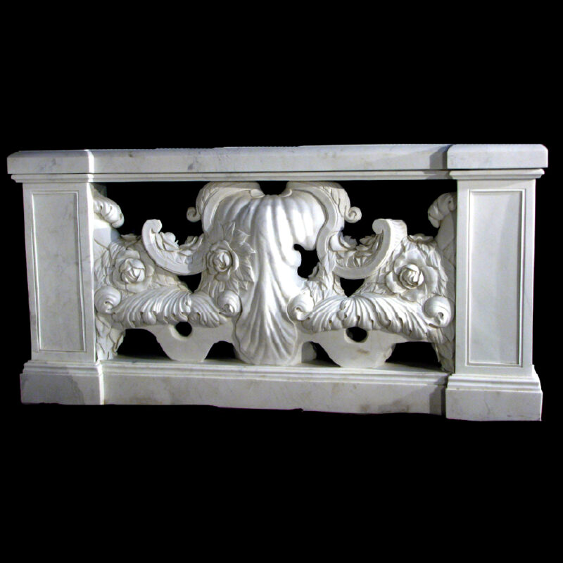 JBB340 Marble Rosevine Balustrade Metropolitan Galleries Inc.