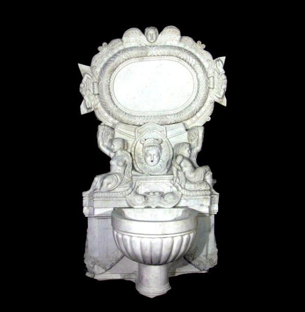 JBF550 Marble Cherub Wall Fountain Metropolitan Galleries Inc.