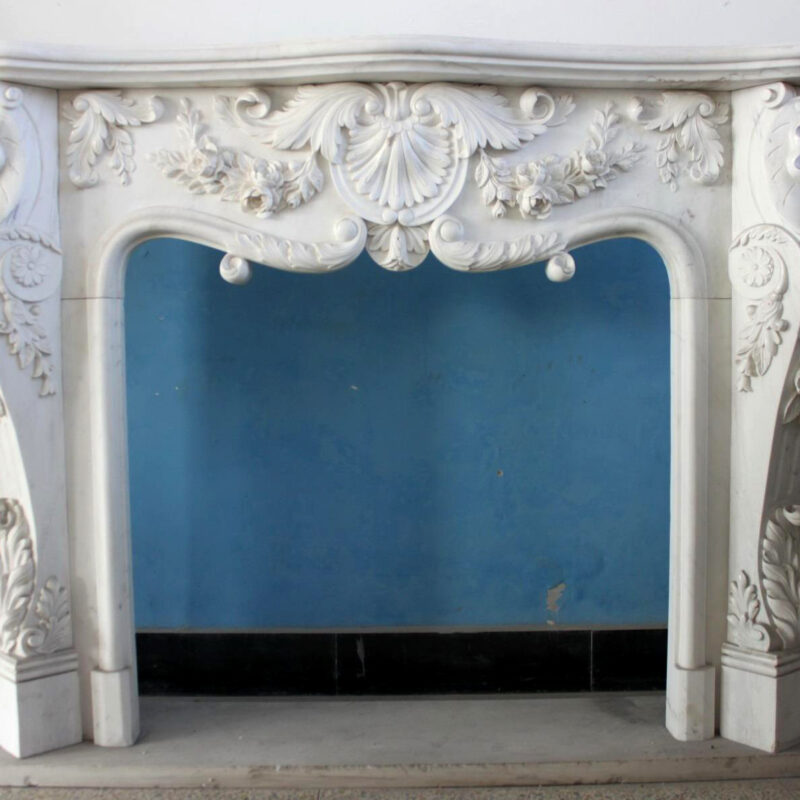 JBM86082 Marble Mantle White Garland Metropolitan Galleries Inc.
