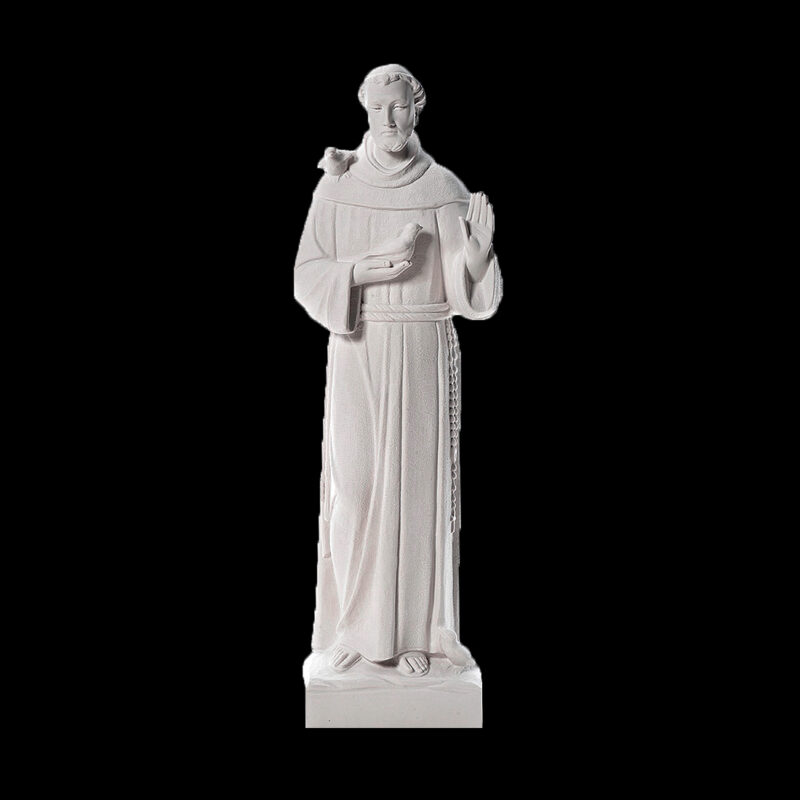 JBS105 Marble Saint Francis Sculpture by Metropolitan Galleries Inc