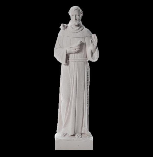 JBS105 Marble St Francis Sculpture Metropolitan Galleries Inc.