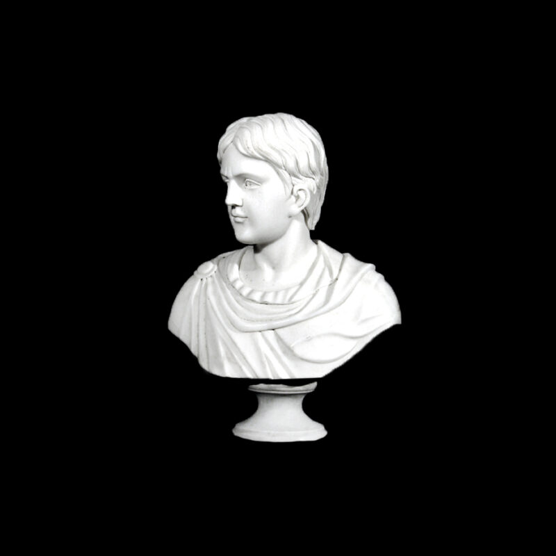 JBS210 Marble Bust of Roman Nobleman Sculpture by Metropolitan Galleries Inc