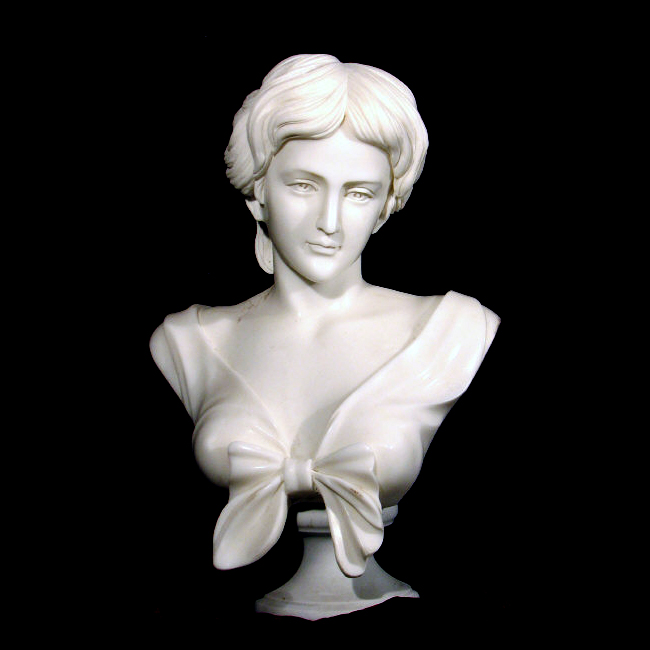JBS306 Marble Female Bust Sculpture Metropolitan Galleries Inc.