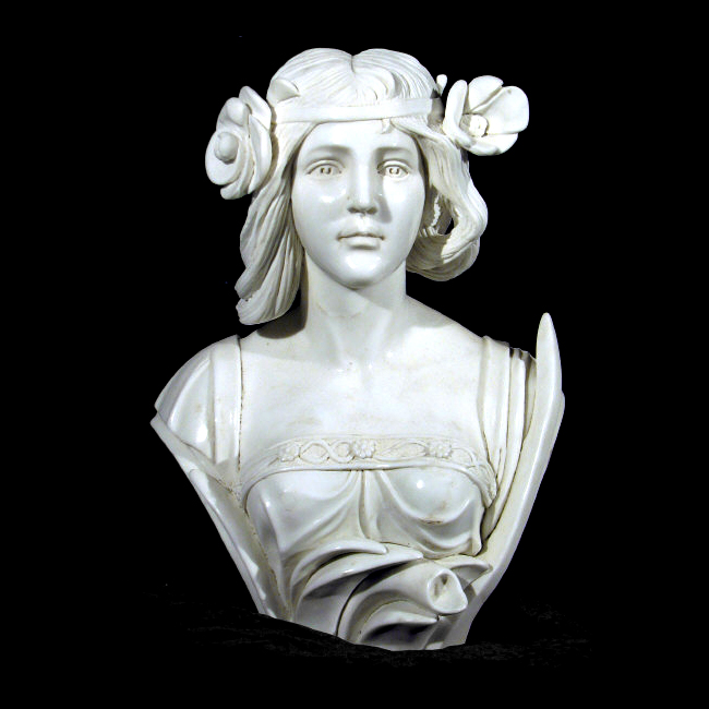 JBS314 Marble 'Flapper' Bust Sculpture Metropolitan Galleries Inc.