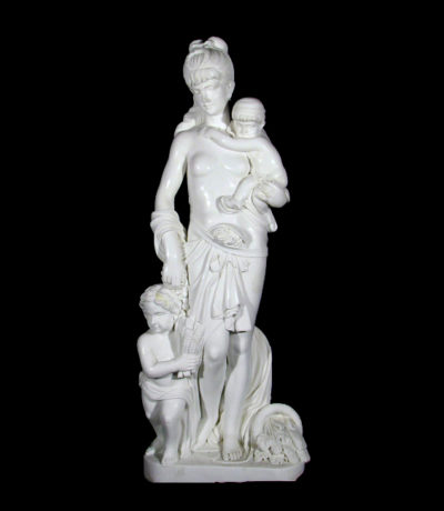 JBS320 Marble Lady with Children Sculpture Metropolitan Galleries Inc.