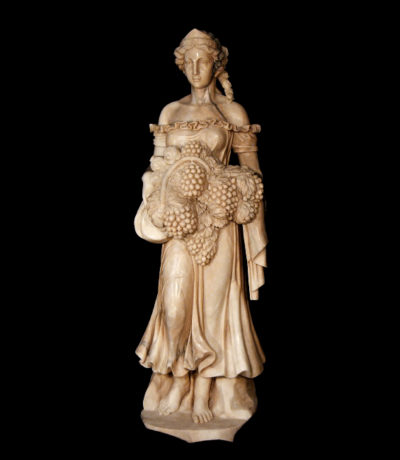 JBS342 Marble Summer Goddess Sculpture Metropolitan Galleries Inc.