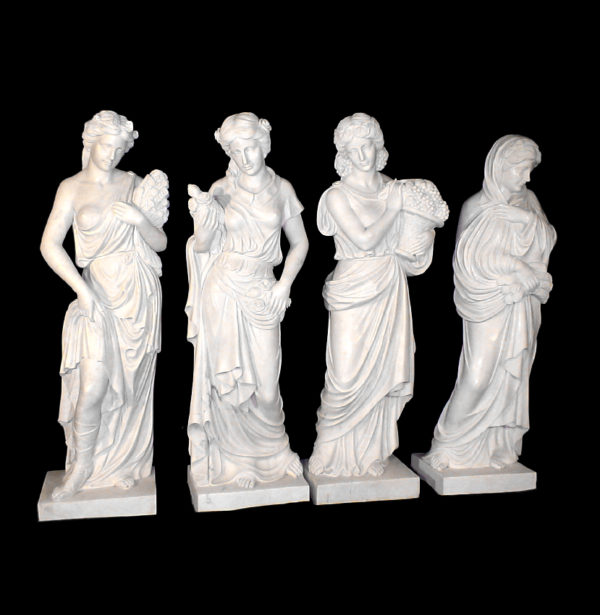 JBS370 Marble Lady Four Seasons Sculpture Set Metropolitan Galleries Inc.