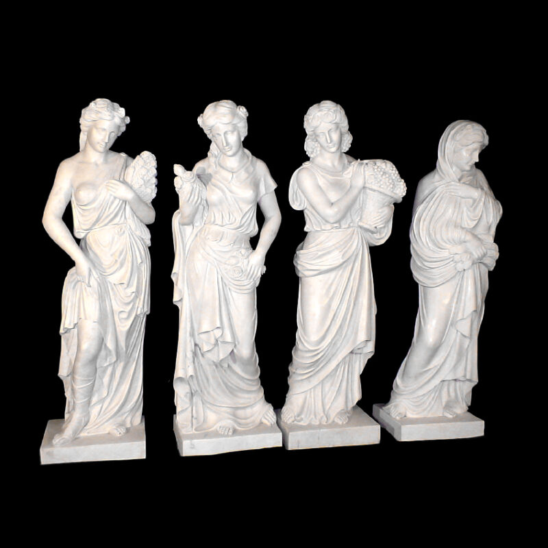 JBS370 Marble Lady Four Seasons Sculpture Set Metropolitan Galleries Inc.