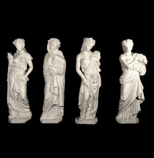 JBS380 Marble Lady Four Seasons Sculpture Set Metropolitan Galleries Inc.