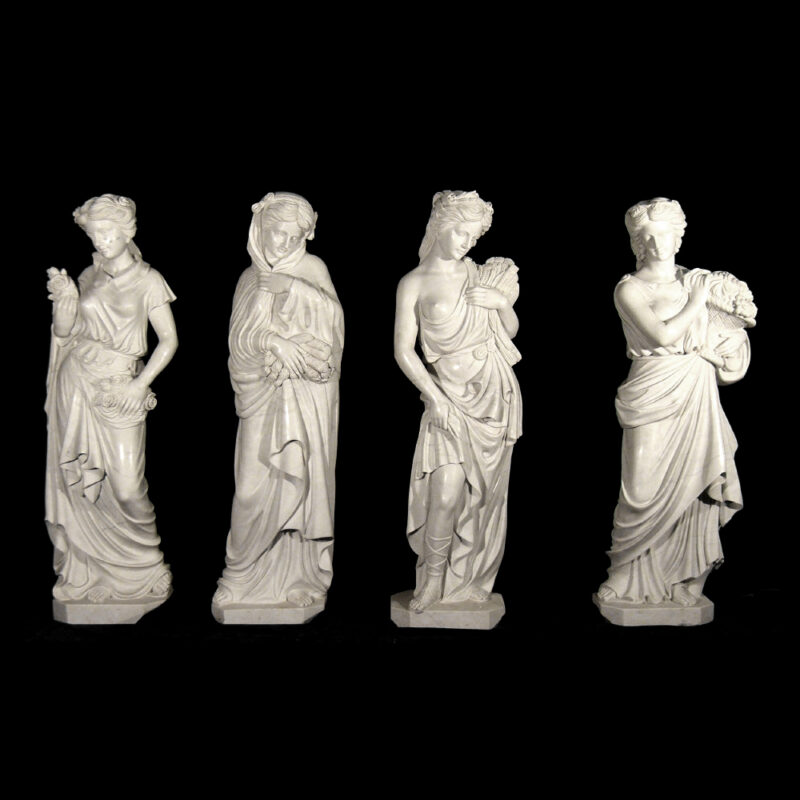 JBS380 Marble Lady Four Seasons Sculpture Set Metropolitan Galleries Inc.