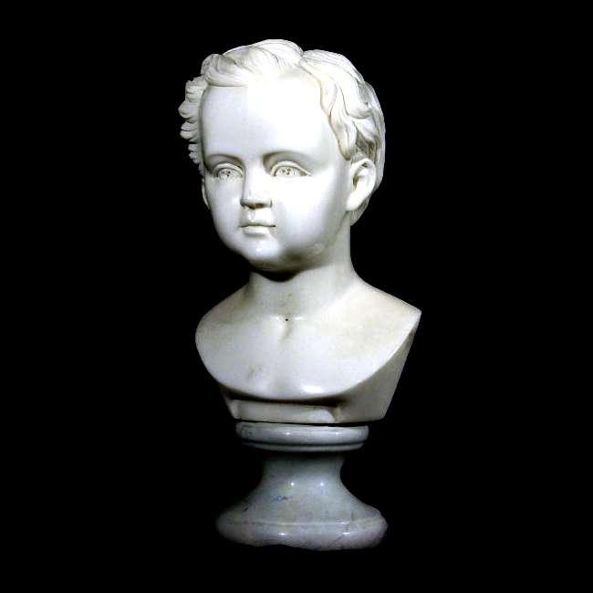 JBS504 Marble Youth Bust Sculpture Metropolitan Galleries Inc.