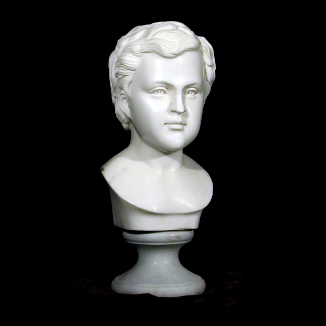 JBS506 Marble Youth Bust Sculpture Metropolitan Galleries Inc.