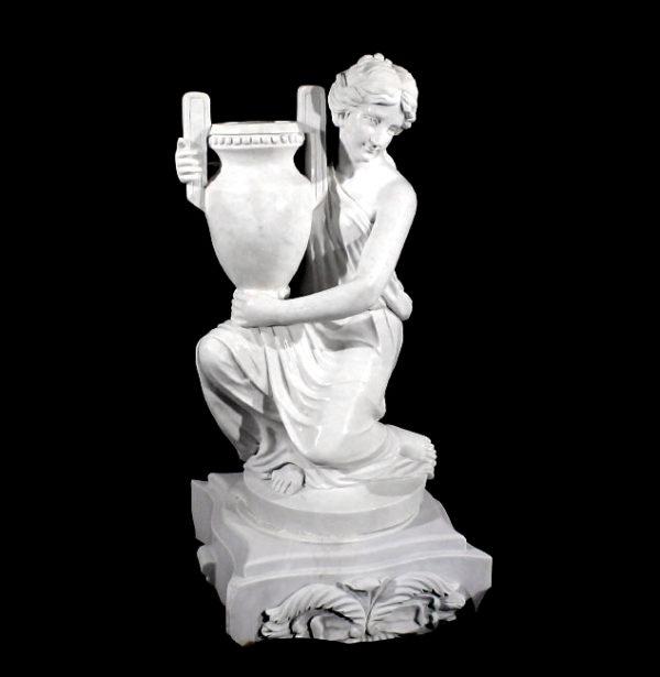 JBU302 Marble Lady holding Urn Sculpture Metropolitan Galleries Inc.