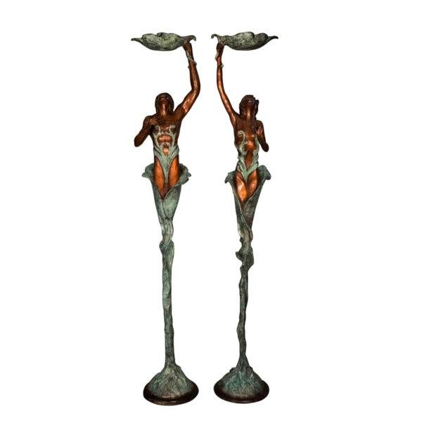 SRB055910-13 Bronze Emerging Leaf Woman Sculpture Metropolitan Galleries Inc.