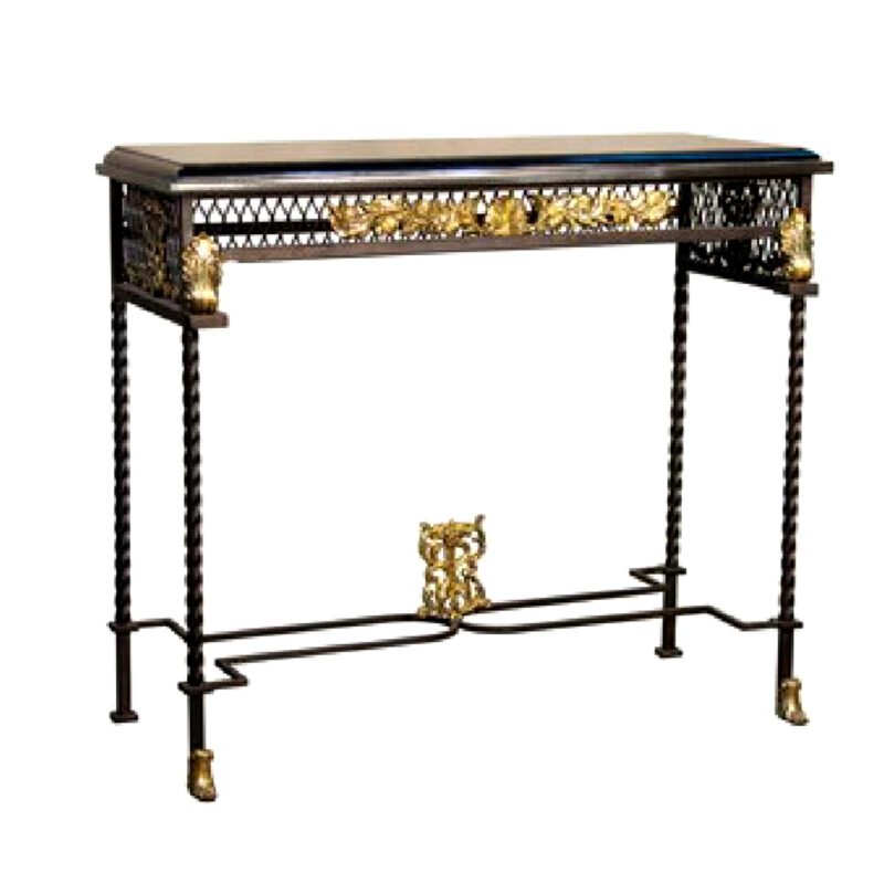 SRB056396 Bronze Console Table Metropolitan Galleries Inc.