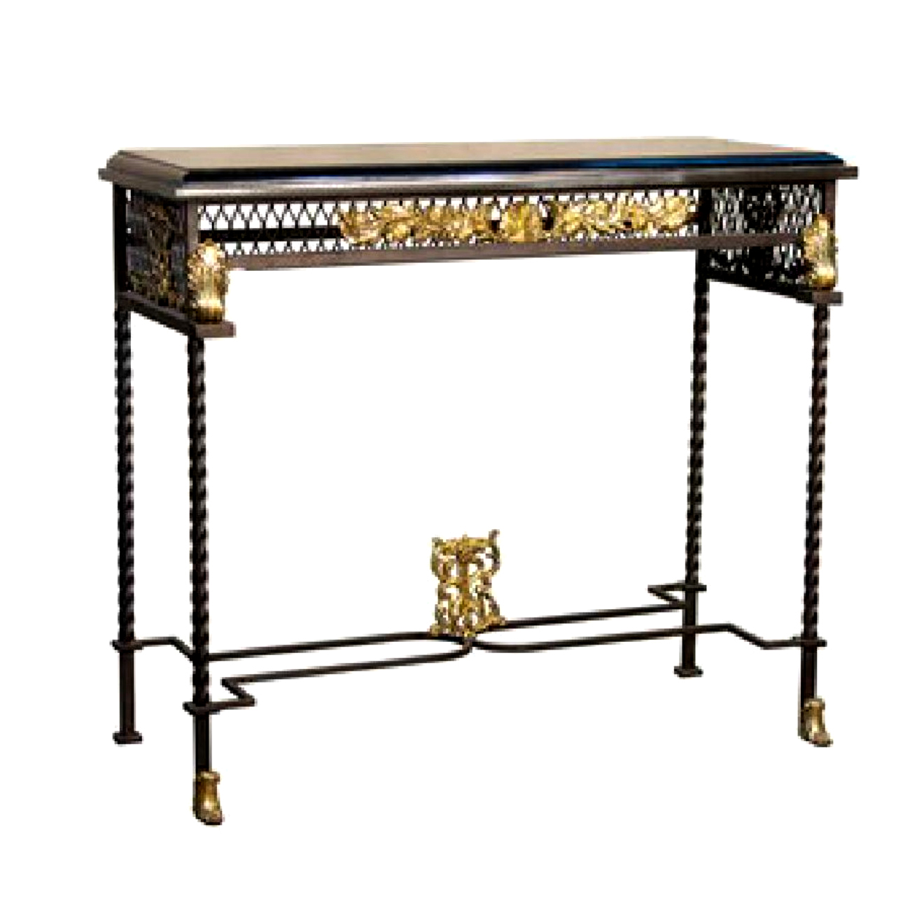 Bronze contemporary console table metropolitan galleries inc srb056396 bronze console table metropolitan galleries inc geotapseo Images