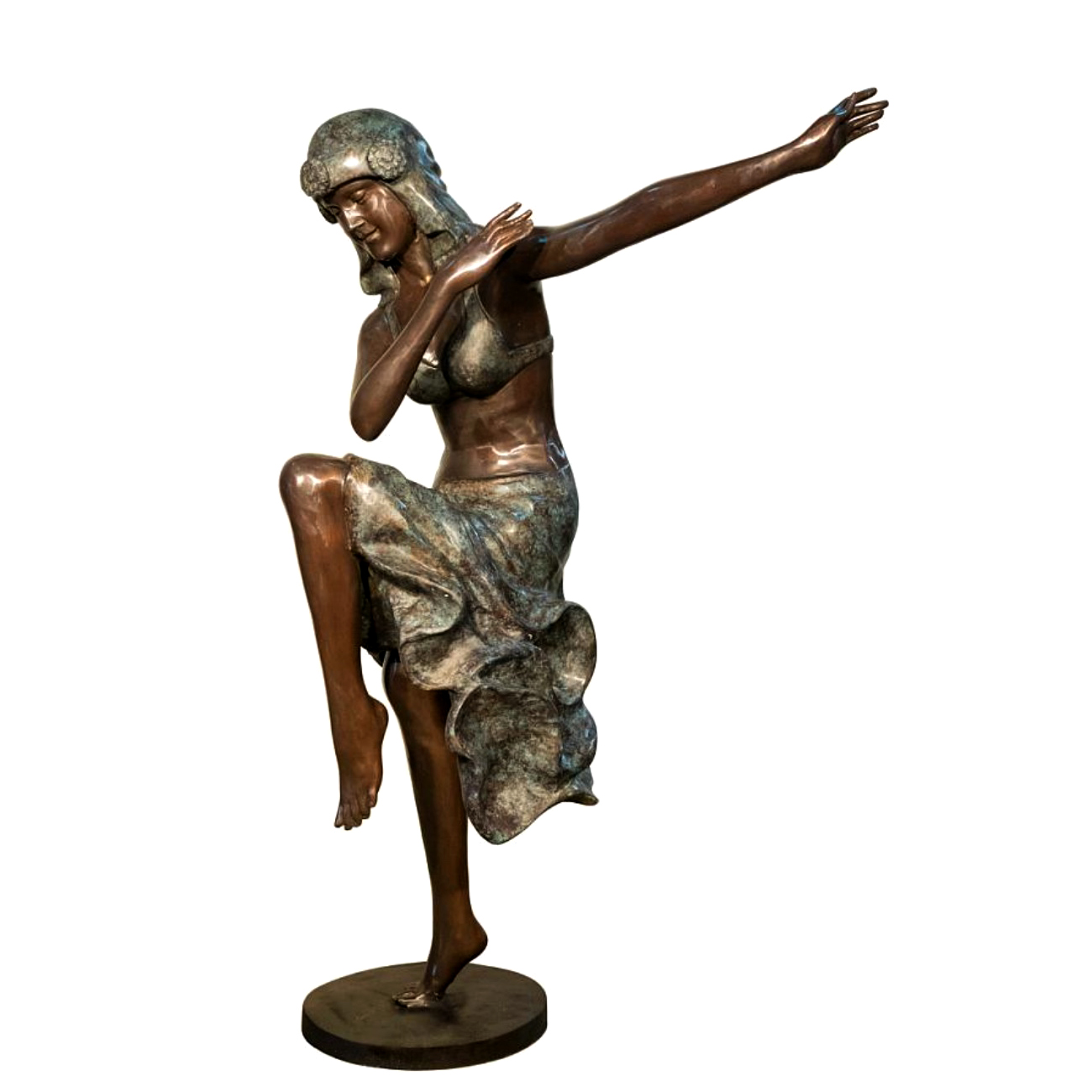 Bronze Lady Dancer Sculpture Metropolitan Galleries Inc