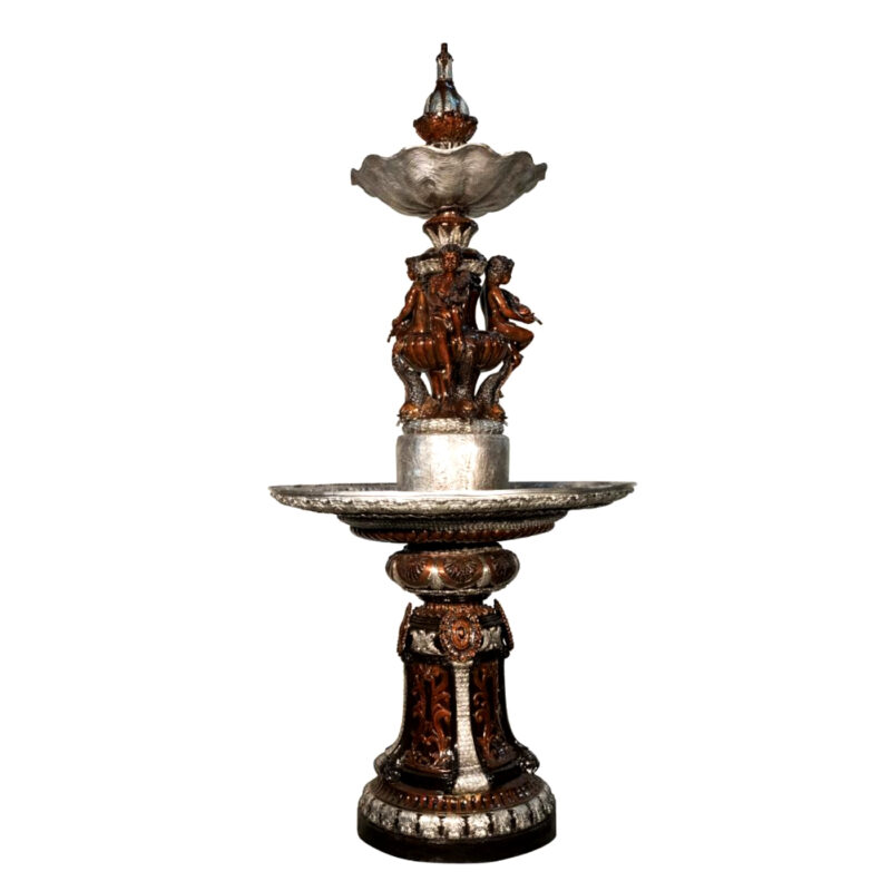 SRB057342-SB Bronze Cherub Tier Fountain Metropolitan Galleries Inc.