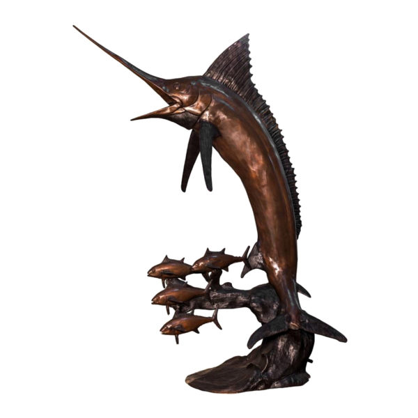SRB057738 Bronze Swordfish Fountain Sculpture Metropolitan Galleries Inc.