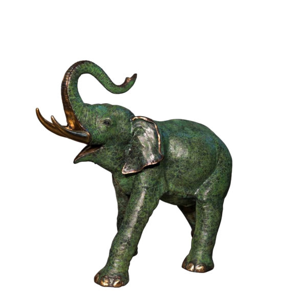 SRB074235-L Bronze Elephant Sculpture Metropolitan Galleries Inc.