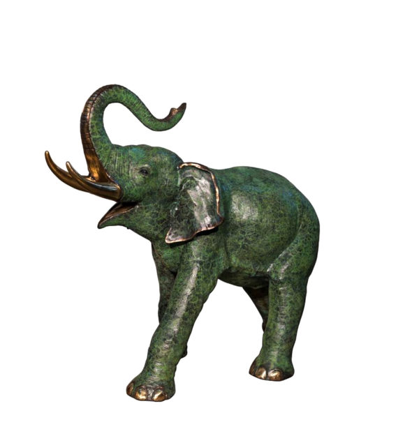 SRB074235-L Bronze Elephant Sculpture Metropolitan Galleries Inc.