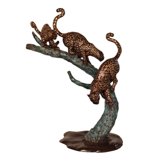 SRB075060 Bronze Leopards of Three on Branch Metropolitan Galleries Inc.