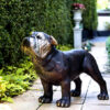 SRB081167 Bronze Bulldog Sculpture Metropolitan Galleries Inc