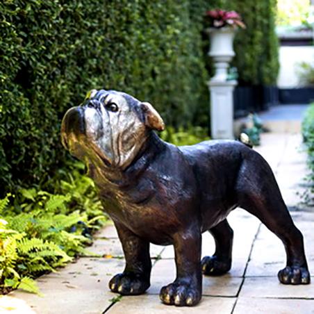 SRB081167 Bronze Bulldog Sculpture Metropolitan Galleries Inc
