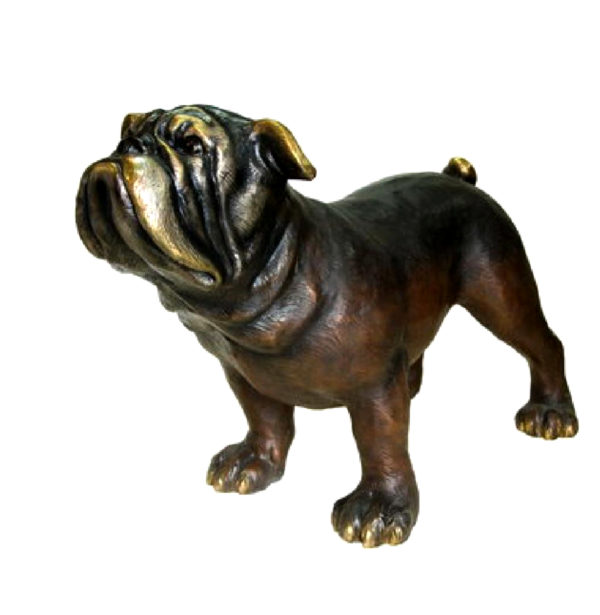 SRB081167 Bronze Dog Sculpture Metropolitan Galleries Inc.